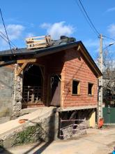 Obras no futuro centro social en Arnado