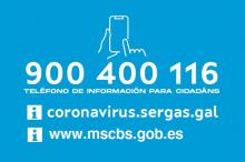 Número gratuito de información sobre a Covid-19