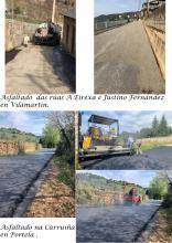 Obras de arranxo nas rúas e camiños
